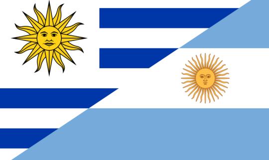 Uruguay dan Argentina yang bertukar Seragam