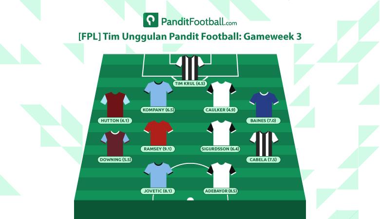 [FPL] Tim Unggulan Pandit Football: Gameweek 3