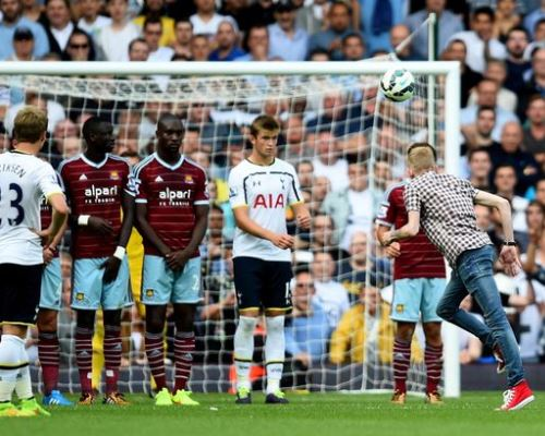 Jordan Dunn, Pitch Invader West Ham vs Tottenham