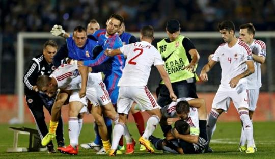Kentalnya Nuansa Politis di Pertandingan Serbia vs Albania