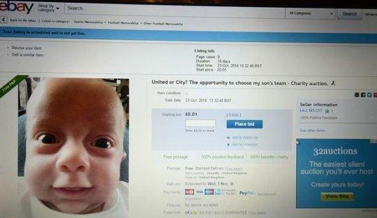 Seorang Ayah Melelang Klub yang Akan Didukung Anaknya di Ebay