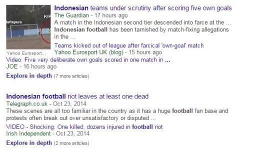 Sepakbola Indonesia di Mata Media Asing
