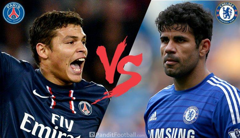 PSG vs Chelsea, Menanti Duel Costa vs Thiago