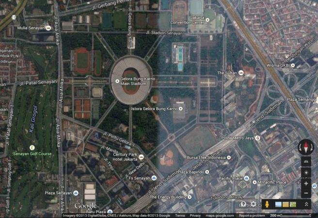 Gelora Bung Karno, Jakarta (sumber: Google Maps)