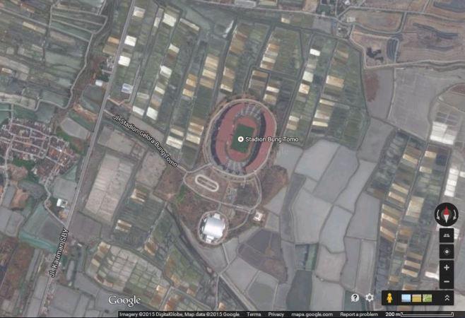 Gelora Bung Tomo, Surabaya (sumber: Google Maps)