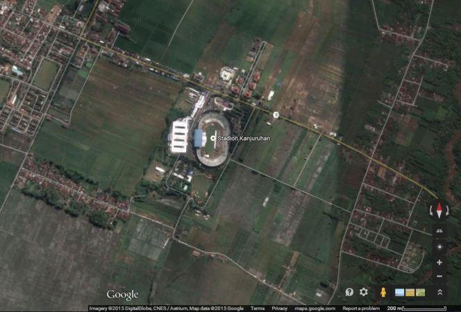 Kanjuruhan, Kepanjen (sumber: Google Maps)