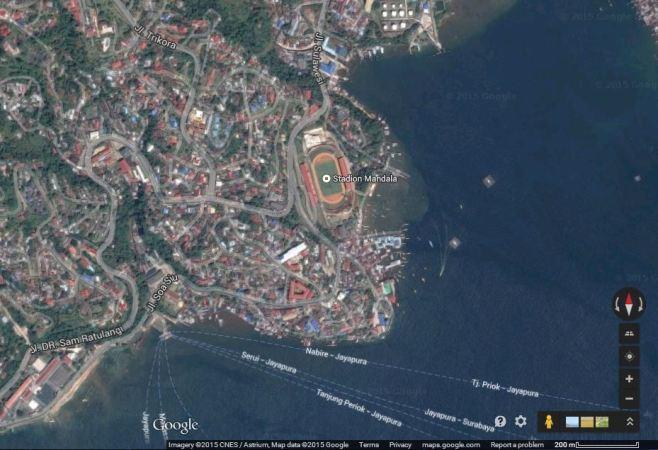 Mandala, Jayapura (sumber: Google Maps)