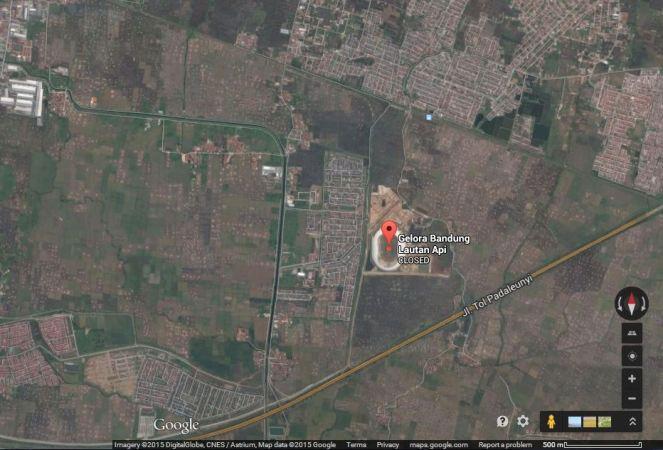 Gelora Bandung Lautan Api, Bandung (sumber: Google Maps)
