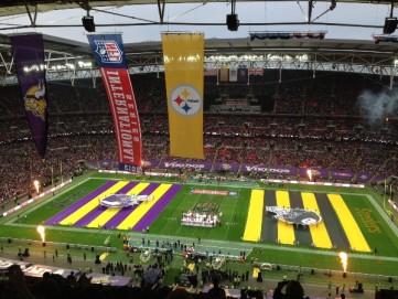 Pertandingan NFL antara Vikings melawan Steelers di Wembley