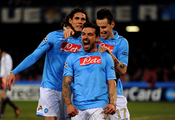 Kebangkitan Napoli bermula dari hadirnya trio Cavani-Lavezzi-Hamsik. (via:zimbio.com)