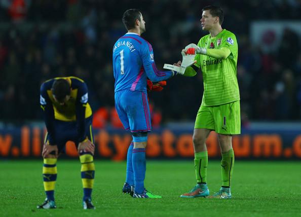 Lukasz+Fabianski+Swansea+City+v+Arsenal+Premier+84ZBYSl--9gl