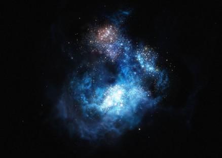 Hasil karya impresi artis untuk galaksi CR7 yang sangat terang. (Kredit: ESO / M. Kornmesser)