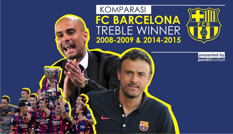 Membandingkan Treble Barca Era Pep vs Enrique