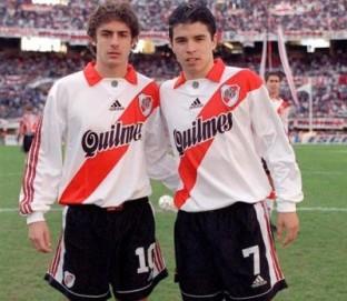 Aimar dan Saviola saat membela River Plate. (via: todoriver.com)