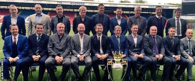 Alumni Blackburn Rovers 1994-1995 (sumber: twitter Alan Shearer)