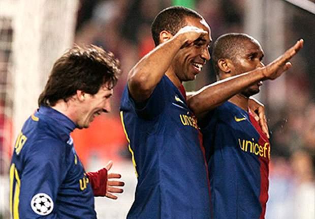Trisula Messi, Henry dan Eto'o di musim 2008-09 (sumber: goal)