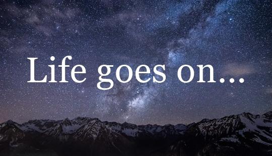 Karena Hidup Terus Berjalan