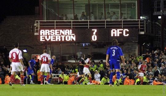 Arsenal 7-0 Everton: Pertunjukkan Profesionalitas Bergkamp