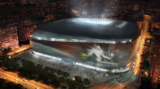 Rencana Stadion Santiago Bernabéu yang baru (sumber: Design Boom)