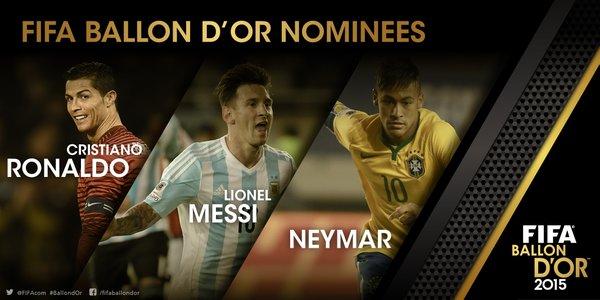 Finalis Pelaku Sepakbola Terbaik, FIFA Ballon d'Or 2015