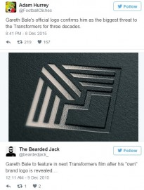 Reaksi Pengguna Twitter Atas Brand Baru Gareth Bale