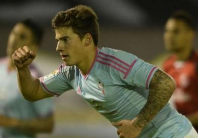 Selebrasi Santi Mina Saat Mencetak Empat Gol ke Gawang Rayo Vallecano