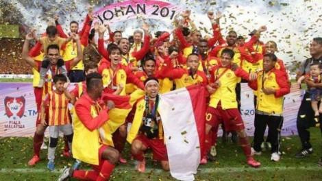 Selebrasi Andik Ketika Membawa Selangor FA menjadi kampiun Piala Malaysia 2015