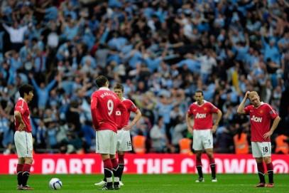 Ekspresi Kekecewaan Para Pemain United Setelah Dikalahkan Manchester City di Piala FA Tahun 2011
