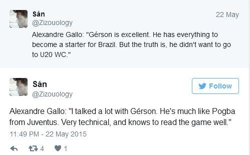 Tweet Gerson