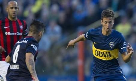 Rodrigo Bentacur ketika beraksi bersama Boca Juniors