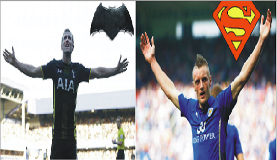 Kane vs Vardy adalah Batman vs Superman di Lapangan Hijau