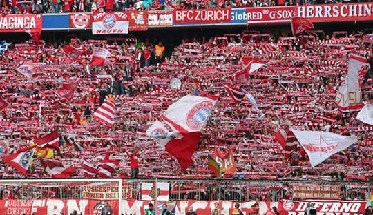 Allianz Arena menjadi salah satu tempat yang sering menyanyikan lagu Seven Nation Army