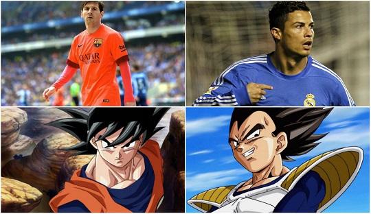 Rivalitas Messi dan Ronaldo adalah Jelmaan dari Son Goku dan Vegeta