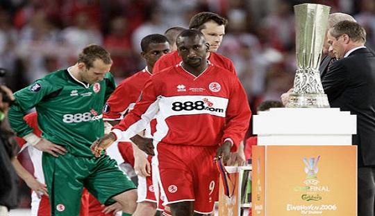 Boro gagal meraih Piala UEFA 2006 setelah kalah 0-4 dari Sevila
