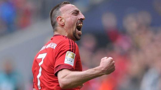 Kebahagiaan Ribery Usai Cetak Gol Akrobatik ke Gawang Frankfurt